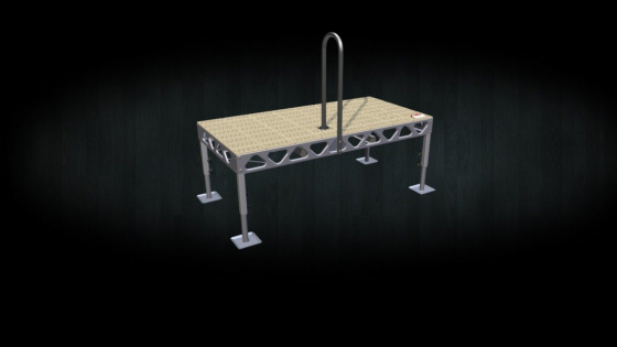 Aluminum dock safety grab rail