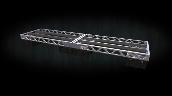 4x16 all aluminum floating dock frame