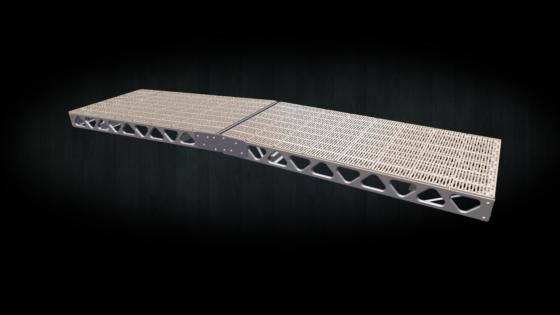 DIY 4x16 floating ramp kit with thruflow decking