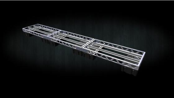 aluminum 4x24 floating dock frame