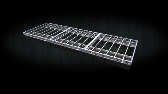 8x24 floating aluminum dock frame