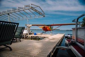 Dalyrmple Lake CanadaDocks Install with Float Plane
