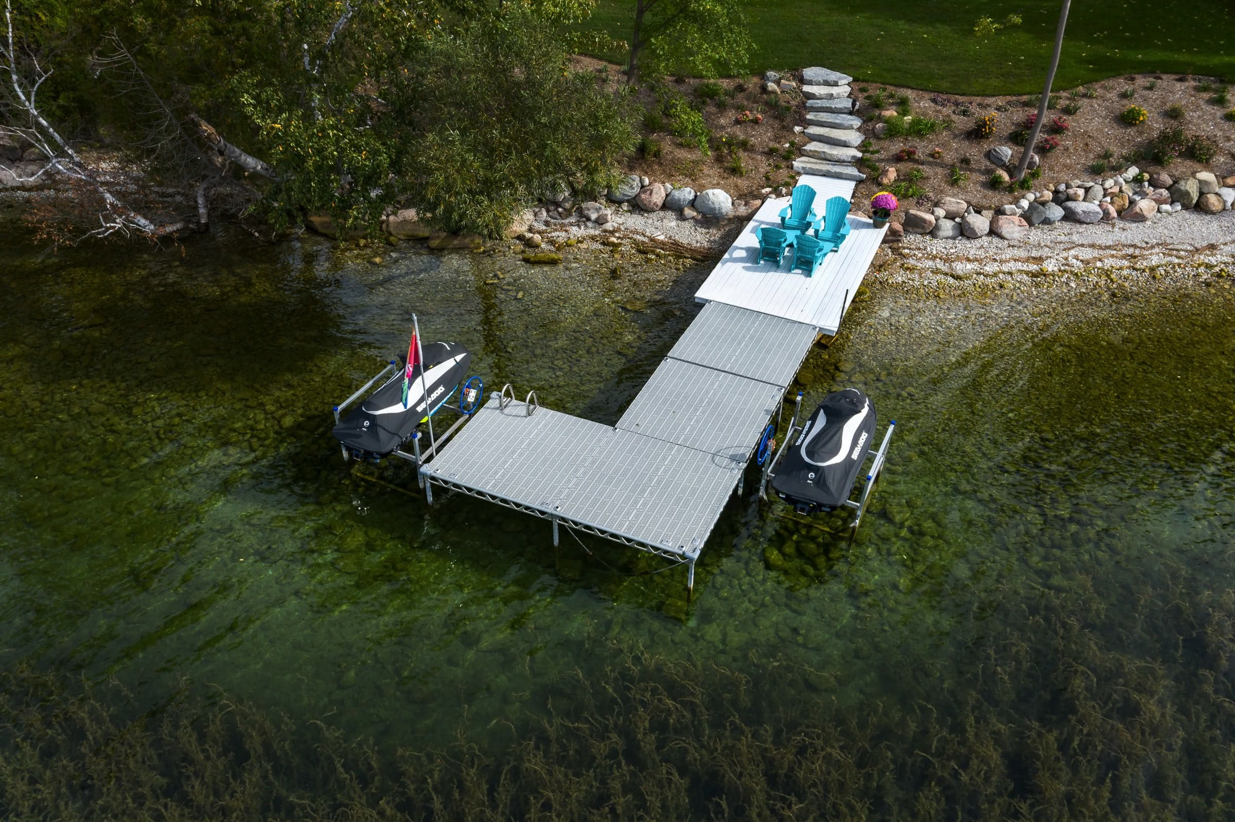 8'x8' Standing Dock Kits with 1200lbs PWC Lifts
