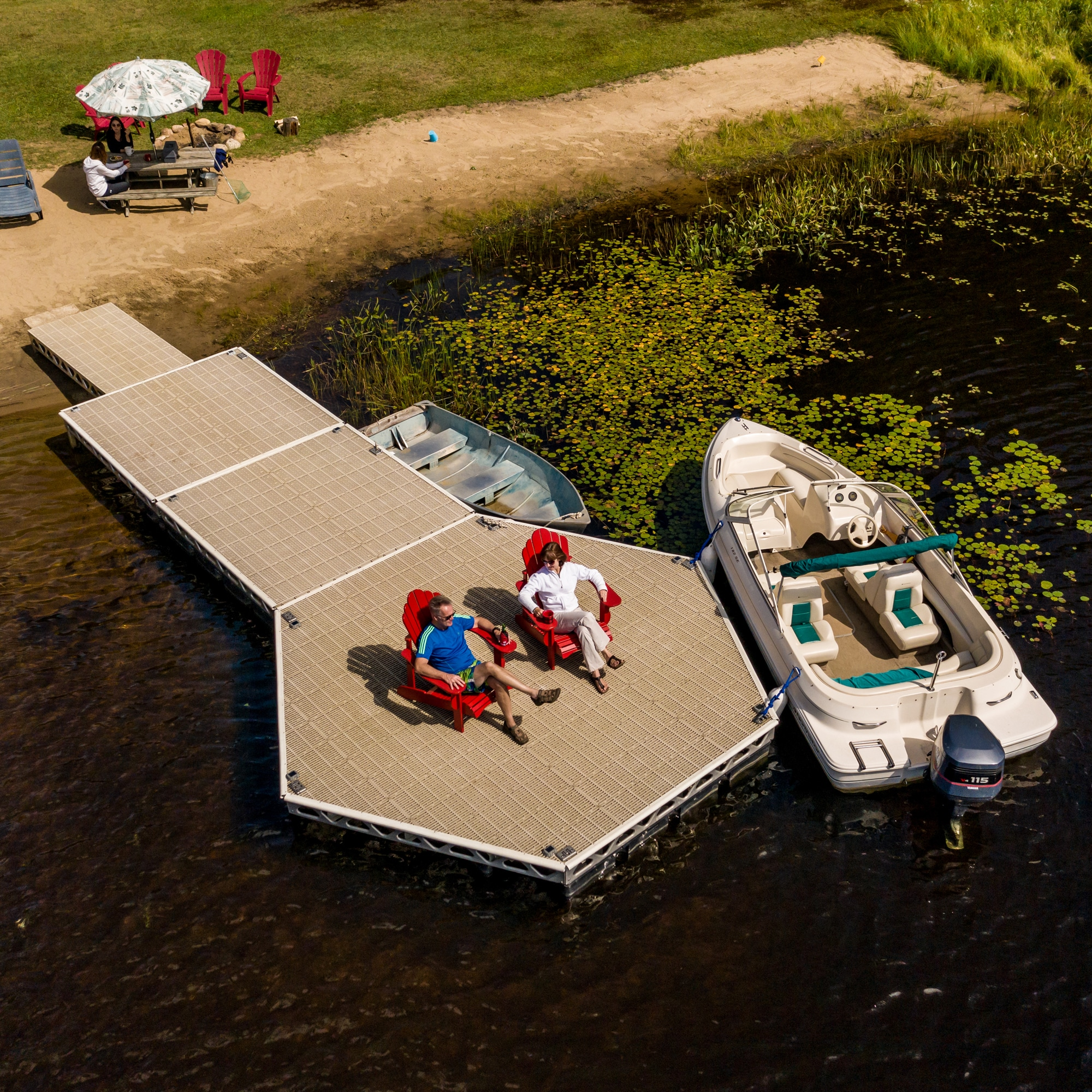 14'x16' Floating Hexagon Dock Kit
