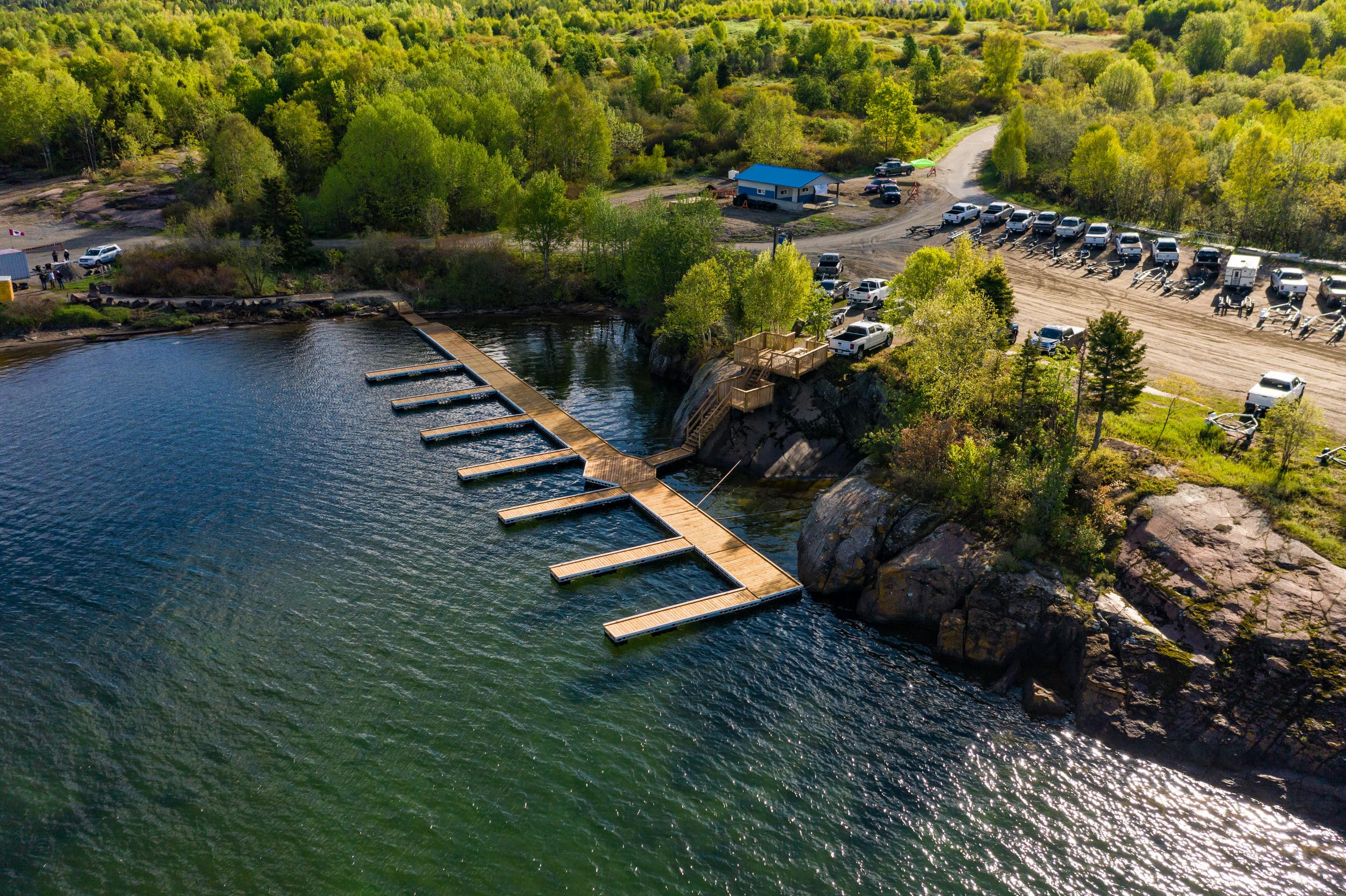 Floating Dock Kits w/ Wood Decking in Marathon, Ontario
