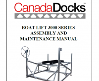 CanadaDocks 300lb boat lift manual
