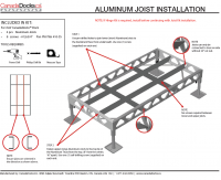 CanadaDocks 4x8 joist kit instructions
