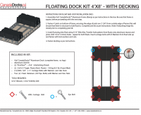 4x8 Floating Dock Instructions