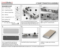 Ramp transition plate assembly instructions