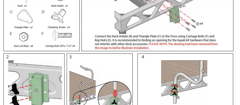 canoe and kayak rack instructions