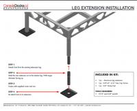 Installing a standing dock leg extension