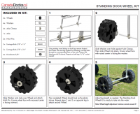 CanadaDocks standing dock wheel kit assembly maual